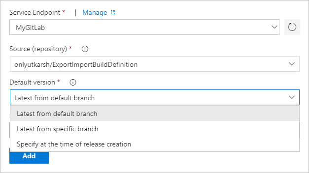 GitLab Integration for Azure Pipelines - Visual Studio